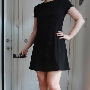 Juicy Black Shift Dress with Sequins